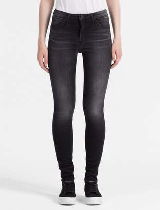 Calvin Klein sculpted faded black high rise skinny jeans