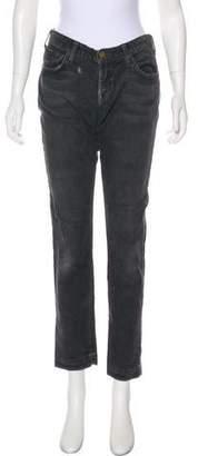 Current/Elliott Corduroy Mid-Rise Straight Pants