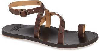 49e675a65f77 Women Brown Flat Strappy Sandals - ShopStyle
