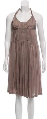 Bottega Veneta Silk Halter Dress