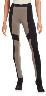 BCBGMAXAZRIA Colorblock Cotton Leggings