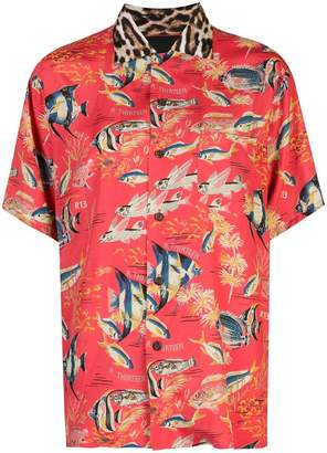 R 13 fish printed shirt