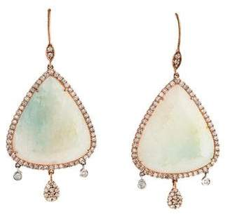 Meira T 18K Amazonite & Diamond Drop Earrings