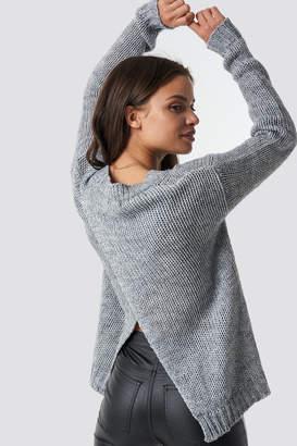 Rut & Circle Rut&Circle Emina V-neck Knit LT Grey