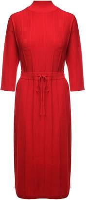 A.P.C. Vivianne Ribbed Merino-wool Midi Dress