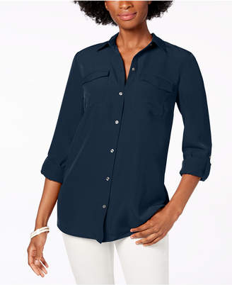 Charter Club Tab-Sleeve Blouse