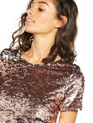 V By Very Petite V by Very Petite Premium Sequin Shift Dress