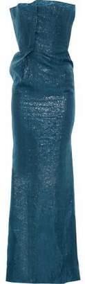 Roland Mouret Henderson Strapless Metallic Organza Gown