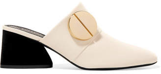 Mercedes Benz Castillo Mealen Embellished Leather Mules - Ivory