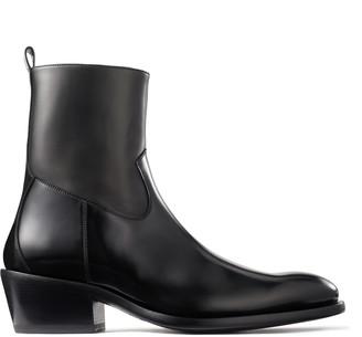 Jimmy Choo JESSE Black Box Calf Boots