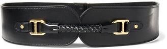 Ralph Lauren Wide Faux-Leather Stretch Belt $58 thestylecure.com