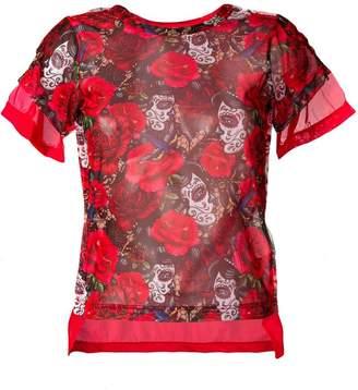 Comme des Garcons rose print T-shirt