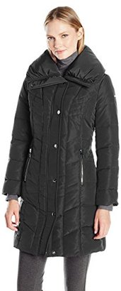 Kenneth Cole Women's Pillow Collar Down Puffer $99 thestylecure.com
