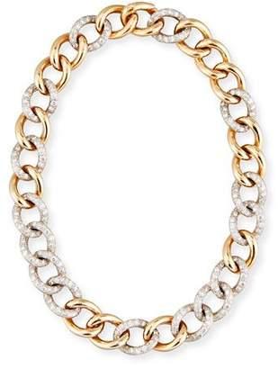 Pomellato Tango 18K Rose Gold Link Necklace with Diamonds
