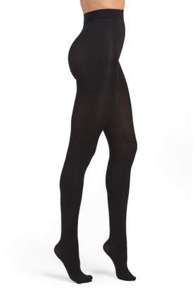 Control Top Opaque Footed Tights