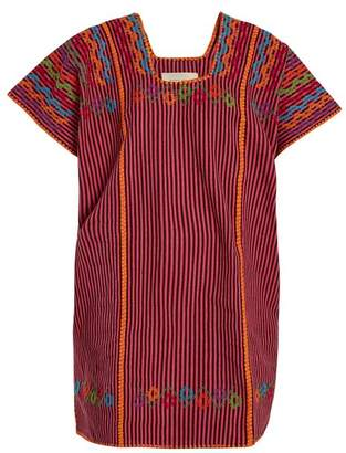 Pippa Holt - No.42 Embroidered Cotton Kaftan - Womens - Pink Multi