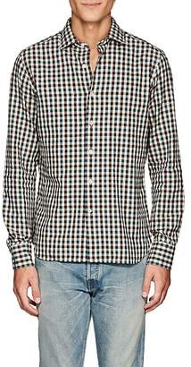 Barneys New York Men's Checked Cotton Flannel Shirt