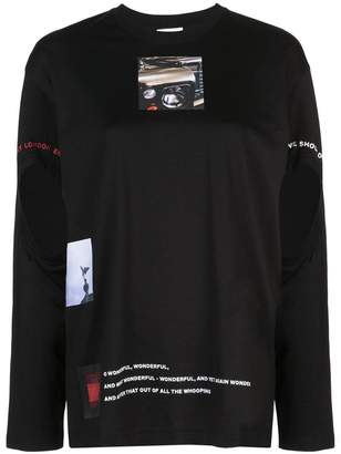 Burberry cut-out montage print top