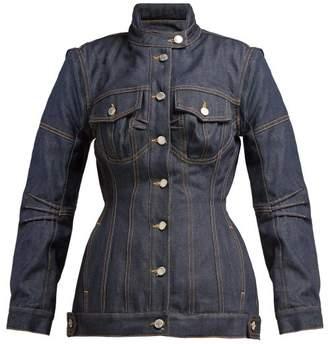 Marine Serre - Panelled Denim Jacket - Womens - Denim