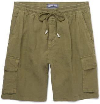 Vilebrequin Baie Brushed-Linen Bermuda Shorts