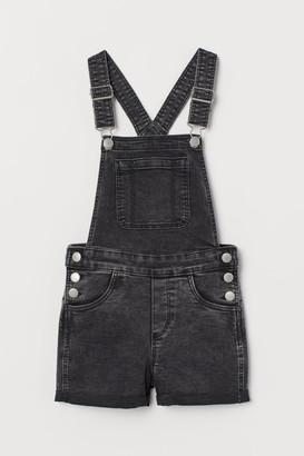 H&M Bib Overall Shorts - Black