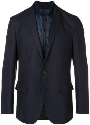 HUGO BOSS layered padded detailed blazer