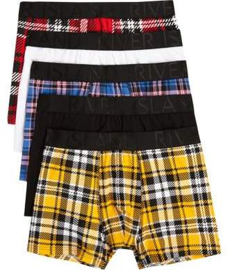 River Island Red check print trunk multipack