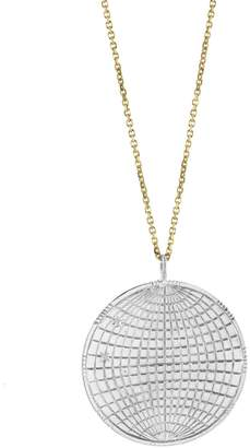 Laura Lee Jewellery Globe Coin Necklace - Sterling Silver