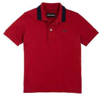 Armani Junior Boys' Contrast Polo Shirt - Little Kid, Big Kid