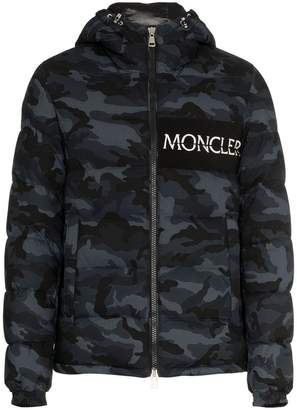 Moncler Aiton camo print hooded jacket