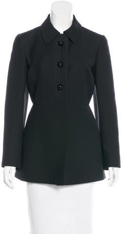 prada Prada Wool Short Coat