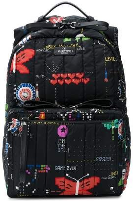 Valentino printed quilted backpack