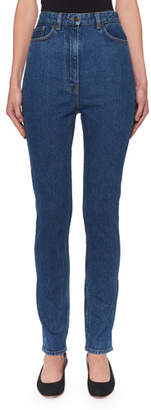 The Row Kate High-Rise Skinny-Leg Jeans