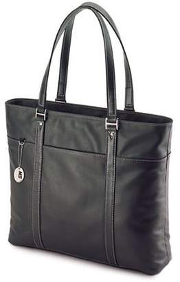 Mobile Edge METL01 Leather Tote Notebook Case - Top-loading - Leather - Black