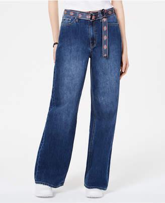 Dickies Wide-Leg Belted Jeans