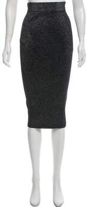 Cushnie et Ochs Metallic Midi Skirt w/ Tags