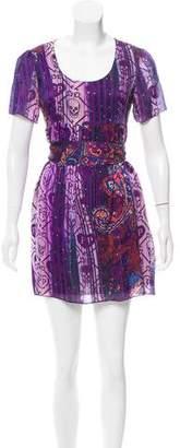 Philipp Plein Skull Print Embellished Dress