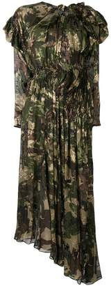 Preen by Thornton Bregazzi Stephanie camouflage flared dress