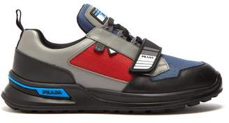 Prada Low Top Leather Trainers - Mens - Multi