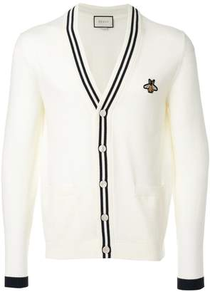 Gucci bee patch cardigan