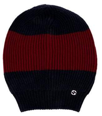 Gucci Wool Web Knit Beanie w/Tags