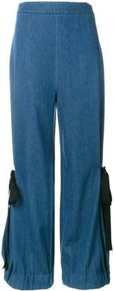 Creatures of the Wind denim wide-leg trousers