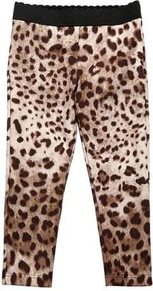Dolce & Gabbana Lycra Leopard Print Legging