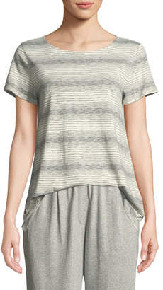 Eileen Fisher Short-Sleeve Striped Tee, Petite