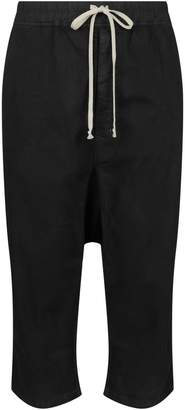 Rick Owens Cotton Drop Crotch Trousers