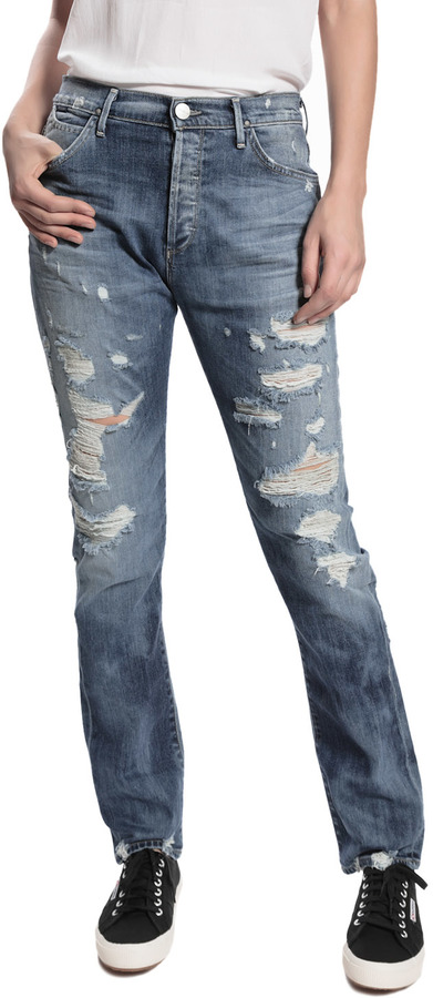 GOLDSIGN Stevie Distressed Jeans - Shane