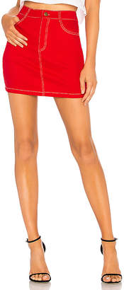 by the way. Cami Red Denim A Line Skirt.