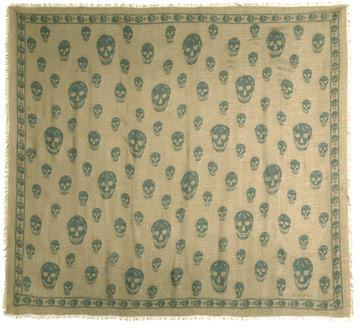 Alexander McQueen Cashmere-blend skull scarf