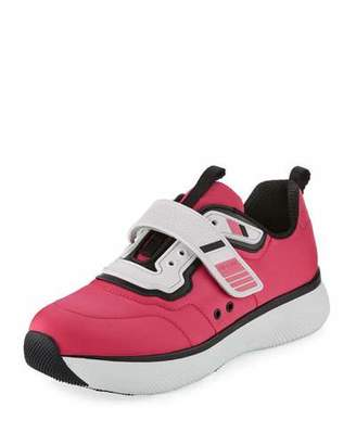 Prada Linea Rossa Stretch Mesh Platform Sneakers, Pink