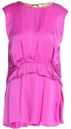 Roksanda Pleated Silk-Satin Top